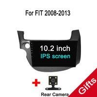 Восьмиядерный Android 7,1 Fit HONDA FIT/Джаз оставили вождения 2007 2013 dvd плеер навигационная gps радио