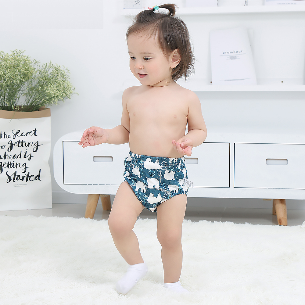 2pcs Baby Cotton Training Pants Panties Baby Diapers Reusable Cloth Diaper Nappies Washable Infants Children Underwear  Changing