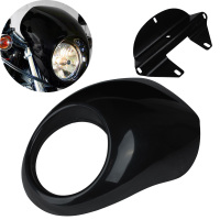 Motorcycle Headlight Plastic Front Visor Fairing Cowl Mask For Harley 883 1200 Sportster XL 39mm Narrow Glide Forks