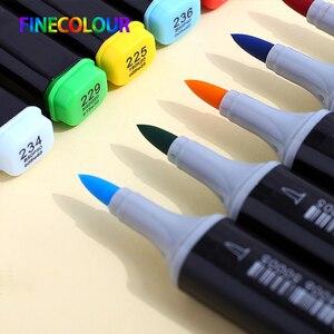Image 2 - Finecolour EF102 אלכוהול מבוסס Lnk מנגה פעמיים בראשות מברשת סמן 12/24/36 סט מקצועי אמנות סמני עט עבור אספקת אמנות
