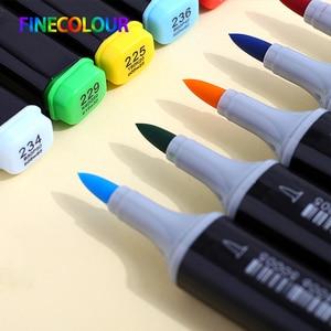 Image 2 - Finecolour EF102 alkol bazlı mürekkep Manga çift başlı fırça Marker 12/24/36 Set profesyonel sanat İşaretleyiciler kalem sanat malzemeleri