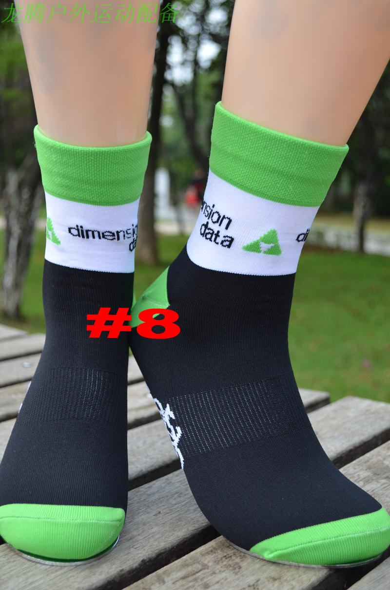 3pairs/lot Pro Team Dimension Data Cycling Socks Breathable High Knee Protect Feet Breathable Wicking Sprots Sock Outdoor Bike