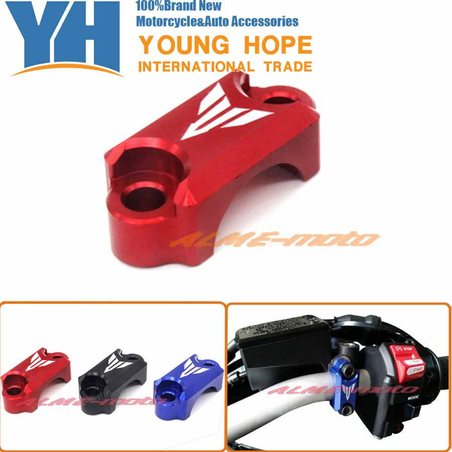 Motorcycle CNC Brake Master Cylinder Clamp Handlebar Clamp Cover For YAMAHA FZ6 FZ1 FZ8 XJ6 XJR1300 Red for yamaha fz6 fz1 fz8 xj6 xjr1300 motorcycle cnc aluminum brake master cylinder clamp handlebar clamp cover red