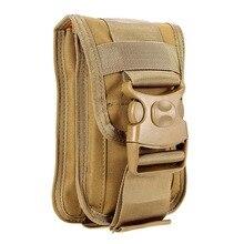 Нейлон Molle сумка сотовый телефон ремешках держатель утилита гаджет талии мешок модульный телефон поясная сумка Рюкзаки рюкзак Шестерни
