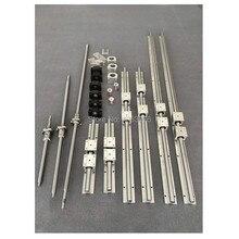 RU доставки SBR16 линейный руководство 6 комплектов линейный рельс SBR16-300/1000/1300 мм + SFU1605 ballscrew BK12 BF12 + ЧПУ части