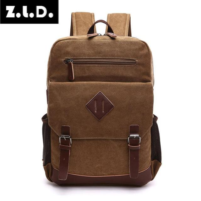 Us 25 66 26 Off Z L D 2018 New Men S Laptop Backpack High Quality Wash Canvas Bag Solid Colors Fashion Mochila In