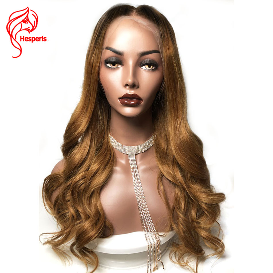 Hesperis Blonde Lace Front Human Hair Wigs Braziliam Remy Ombre Lace Front Human Hair Wiga With