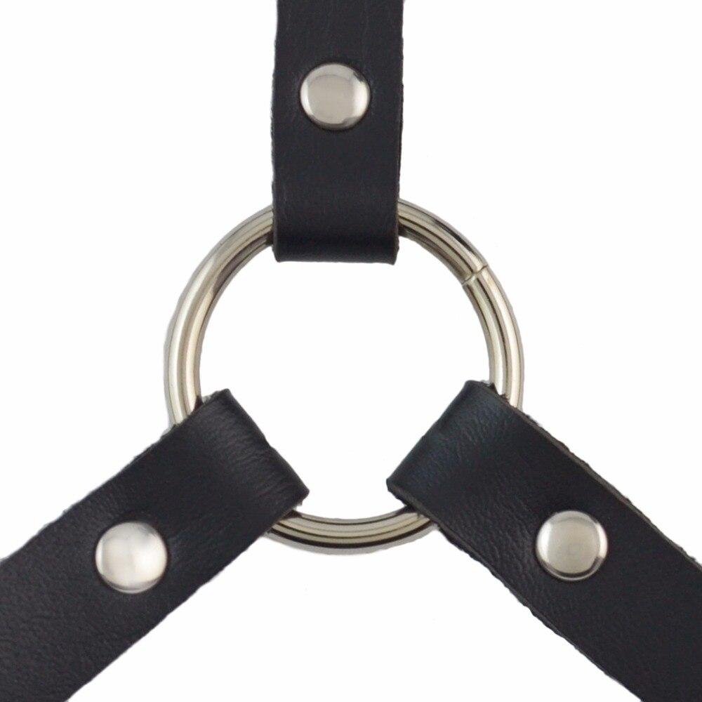 Punk Fetish Slave bondage Restraints Exposed Breast Chastity Belt ...