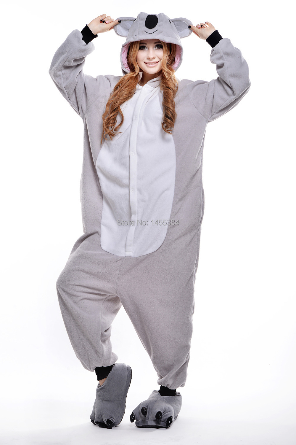 Halloween Costumes for Women Animal Onesie Adults Sleeping Wear Anime Grey Koala Pajamas Cosplay Dress Free Shipping-in Anime Costumes from Novelty ...  sc 1 st  AliExpress.com & Halloween Costumes for Women Animal Onesie Adults Sleeping Wear ...