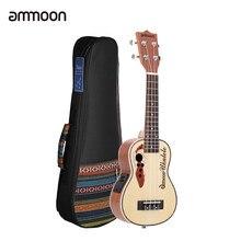 Ammoon – Ukulele acoustique en épicéa de 21 pouces, avec micro EQ intégré, avec sac de 21 pouces, Kit de haute qualité