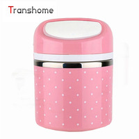 1Pcs Portable Cute Mini Japanese Bento Box Leak Proof Stainless Steel Thermal Lunch Boxs Kids Picnic