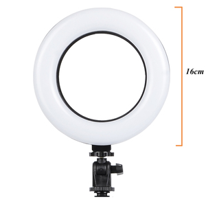 Image 2 - Photography Dimmable LED Selfie Ring Light Youtube Video Live 3200 5500K Photo Studio Light With Phone Holder, USB Plug & Tripod