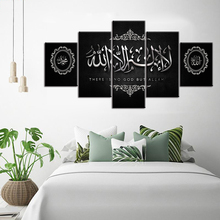 Muzułmanin biblia plakat islamski diament malarstwo Allah koran diament haftowany obraz 5 sztuk obraz do dekoracji domu