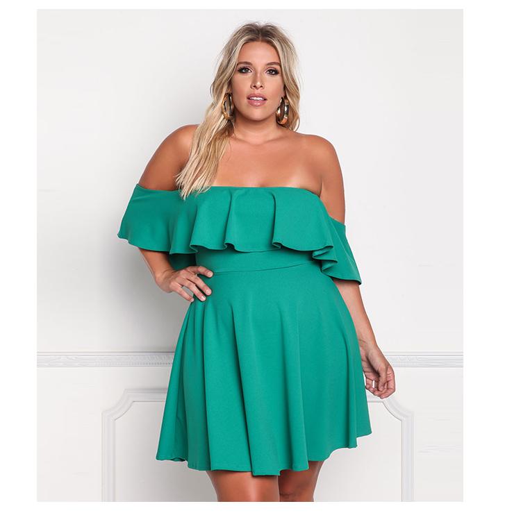 181fd2453297 2019 Minody Big Size Off Shoulder Women Dress 2018 Spring Summer ...