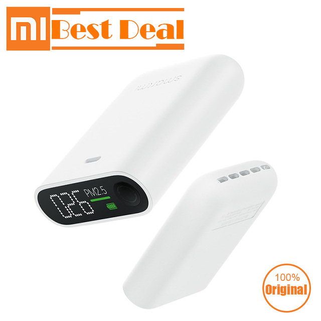 Xiaomi Smartmi PM2.5 Detector Mini Sensitive Air Quality Tester For Home Office LED Screen Mi Portable PM2.5 Monitor Sensor