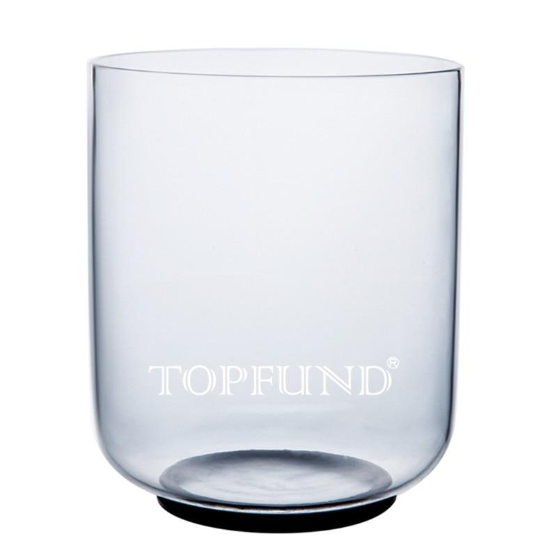 TOPFUND C Примечание корневой чакры Ясно Кварцевый Поющая чаша 7 , уплотнительное кольцо и молоток, для медитации yoga практика