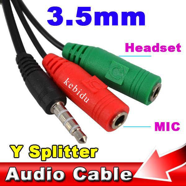 Kebidu AUX 3,5 мм удлинитель штекер 2 Женский аудио микрофон наушники аудио сплиттер кабель адаптер для ПК ноутбука