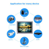 12 Inch 4 Wire Resistive Touch Lcd Monitor 1024 768 Cheap Lcd Touch Monitor With Metal