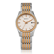BERNY Womens Watches Rose Gold Luxury Top Brand 2017 Steel Band Women Wristwatches Ladies Business Water Resistant Watch 2621L