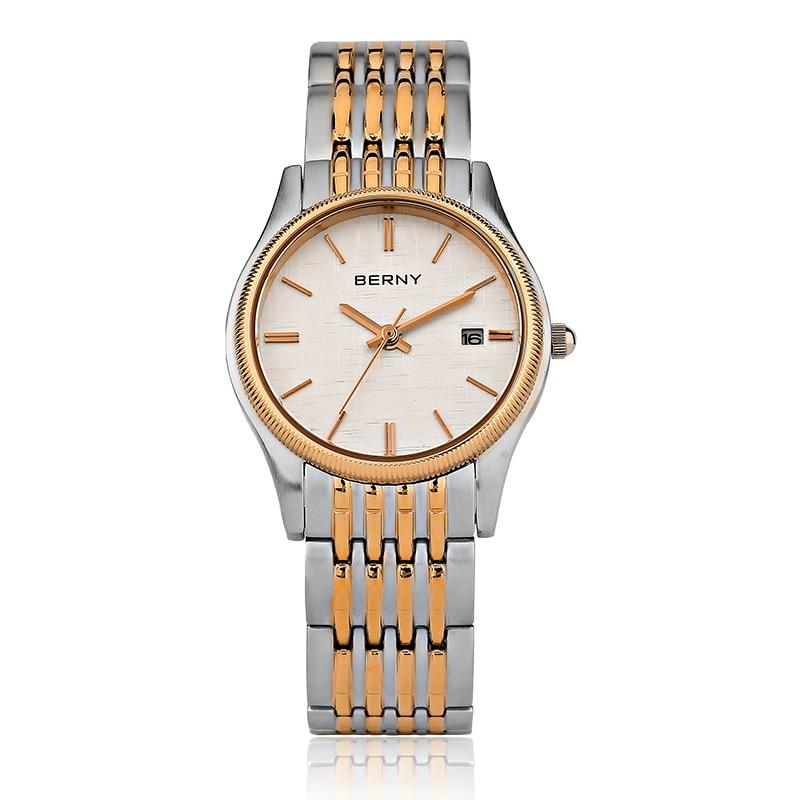 Saatler'ten Kadın Saatleri'de Berny Kadınlar İzle Kuvars Bayan Saatler Moda Üst Marka Lüks Relogio Saat Montre Horloge Feminino Bayan Femme JAPONYA HAREKETI'da  Grup 1