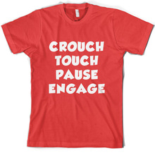 Crouch touchER pause Engage - Mens T-Shirt RugbyER / Union league Print T Shirt Short Sleeve Hot Tops Tshirt Homme