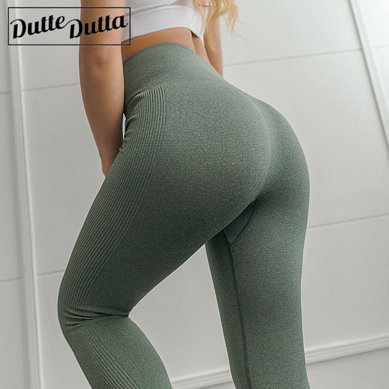 High Waist Yoga Pants Seamless Sport Leggings Women Push Up Green Yoga Legging Elastic Fitness Tights Running Gym Sportwear Колготки