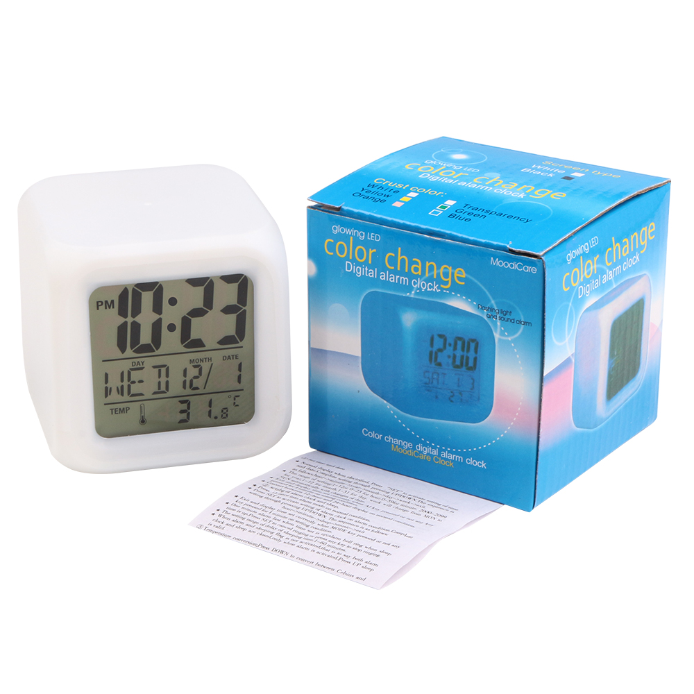 Image result for color change digital alarm clock
