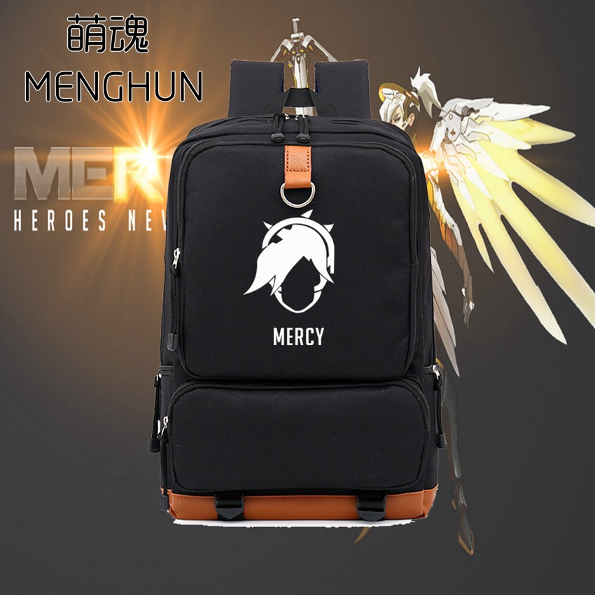 New designed OW character MERCY concept game fans backpack big backpack for student schoolbag NB099 lucky john croco spoon big game mission 24гр 004