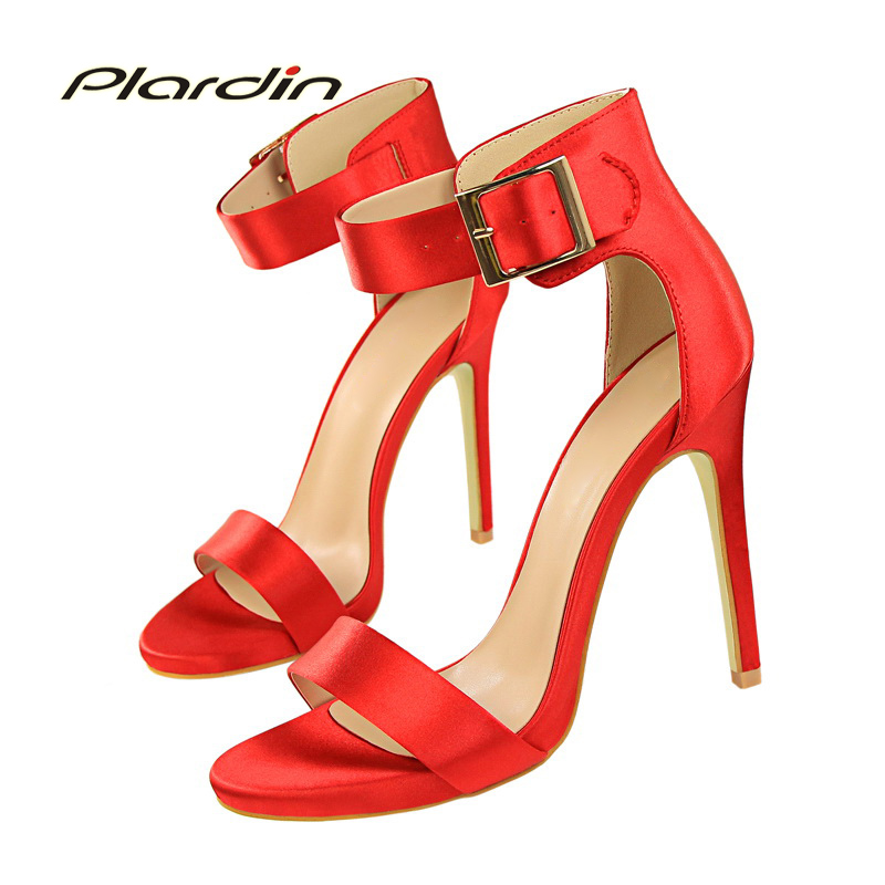 plardin 2017 Summer Shoes Woman Retro  Ankle Strap Platform women Buckle Strap Fashion Casual Concise Thin Heels women's pumps xiaying smile summer woman sandals fashion women pumps square cover heel buckle strap fashion casual concise student women shoes