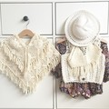 Babys Tassel Knit Cape Fashion Coat Toddle Cute Spring Scarf Coats Kids Outwear Belt Novelty Clothing