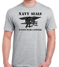 Navy SEALS T shirt for men Special forces size S-3XL