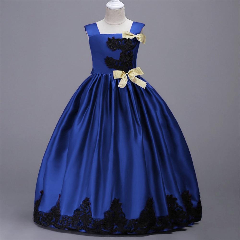 Hohe Qualität Kinder Mädchen Prinzessin Langes Kleid Spitze Stieg ...