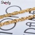 NUEVA cadena Del Encanto 24 k chapado en oro de joyería de Los Hombres de cadena de joyería collar de cadena Envío gratis L12 de calidad Superior