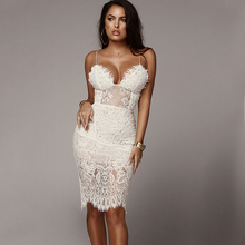 NewAsia White Lace Summer Dress 2019 Women Spaghetti Straps Backless Sexy Dresses Woman Party Night Elegant Bodycon Long