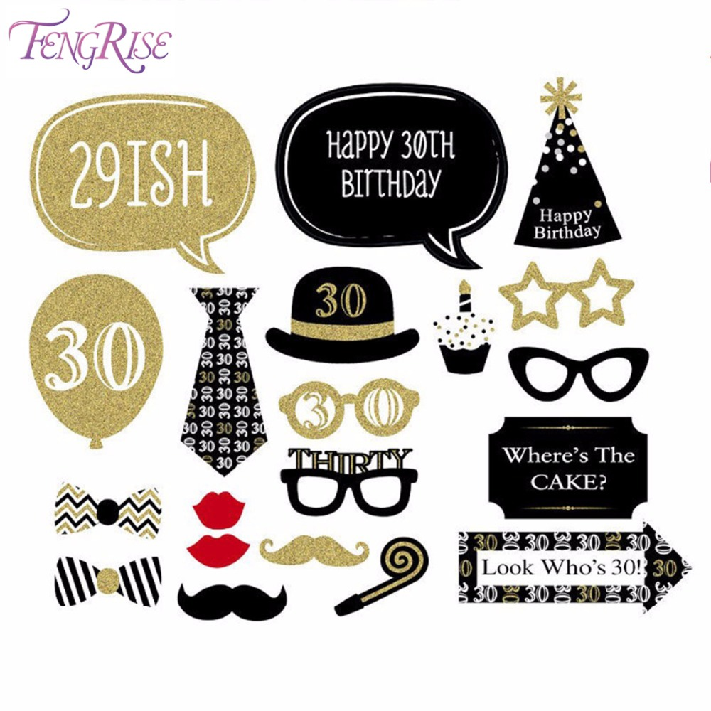 Aliexpress.com : Buy FENGRISE 30th Photo Booth Novelty ...