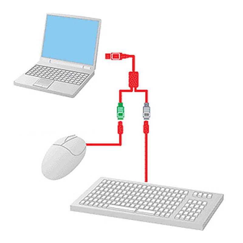 1 قطعة USB ذكر إلى PS/2 PS2 أنثى محول كابل الحبل محول محول لوحة المفاتيح