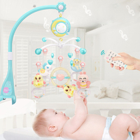 Baby Toys 0 12 Months Rattles Musical Crib Mobile On Cot Baby Crib Bed Bells Music Box Projector Educational Toys For Newborns