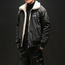 MYAZHOU Мода теплый флис джинсовая куртка Для мужчин 2018 зимняя модная уличная джинсовая куртка повседневная верхняя одежда мужской Ковбойское пальто плюс Размеры