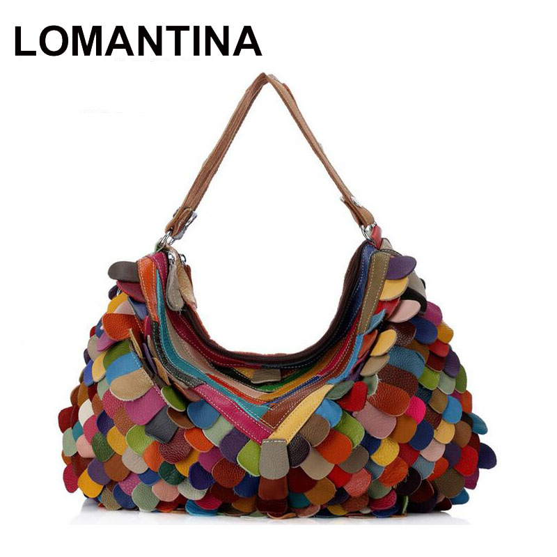 Lomantina Fashion Women Designer Handbag High Quality Colorful Patchwork Las Travel Shoulder Bag Hobos Tote In Top Handle Bags From Luggage