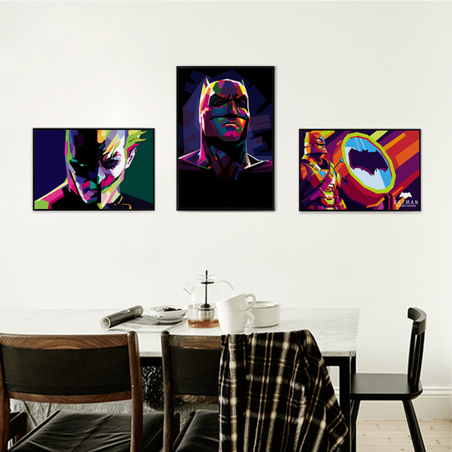 Dc Comics Wall Art aliexpress : buy colorful batman movie superhero dc comics