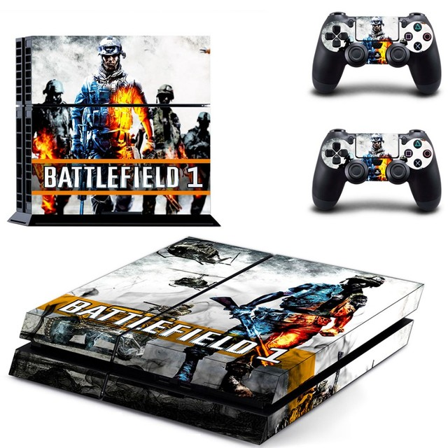 Battlefield 1 vinyl skin sticker ps4 decal for sony playstation 4 console 2 pcs cover