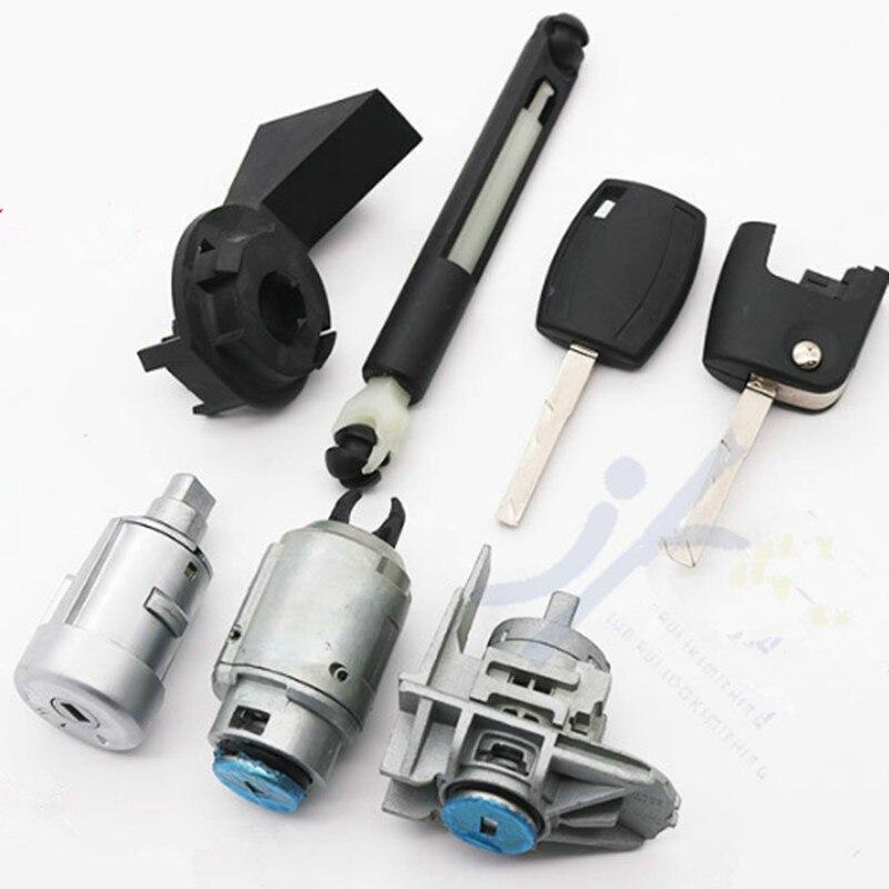 DAKATU OEM Auto voiture gauche cylindre de serrure de porte pour Ford focus 2005-2013 ensemble complet serrure de porte cylindre serrure d'allumage