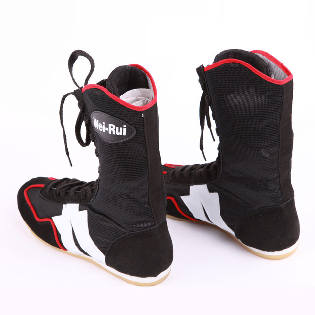 New High Top Lace up Men Boxing Shoes for boxers Boxing