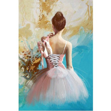 Ballet girl diamond Embroidery diy painting mosaic 3d cross stitch picture H772