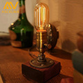 Brand New High Quality Loft Vintage E27 Edison Bulb Table Lamp Dimmable Water Pipe Light Home Bar Decor