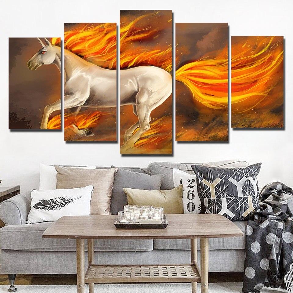 Книги по искусству Sailing 5 Панель Холст стены Книги по искусству кроссовки огонь лошадь картины настенные панно гостиная плакаты Новинка 2018 г...