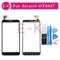 "High Quality 5.0"" For Alcatel One Touch Idol 2 OT6037 Touch Screen Digitizer Sensor Glass Lens Panel Free shipping+tools"