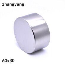 ZHANGYANG 1 個ネオジムマグネット 60 × 30 ミリメートルガリウム金属 new スーパー強力なラウンド磁石 60*30 Neodimio マグネット強力な永久的な