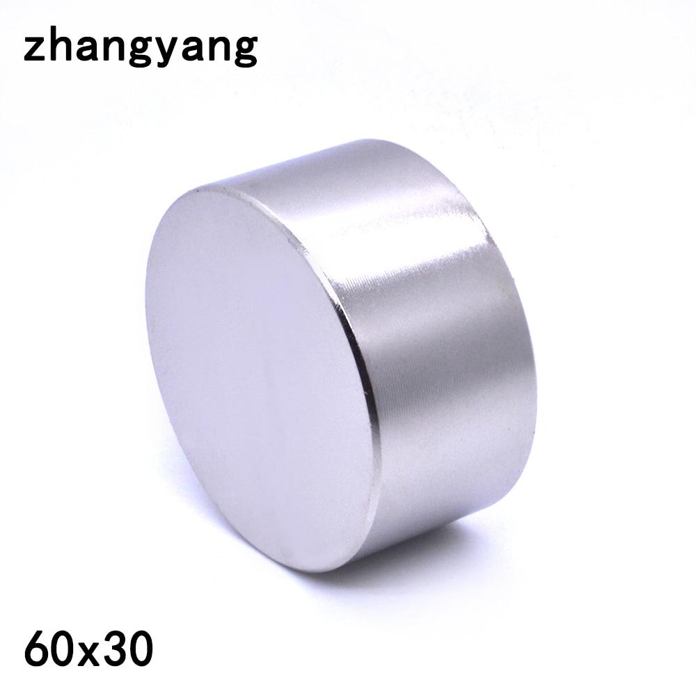 ZHANGYANG 1 pièces aimant néodyme 60x30mm gallium métal nouveau super fort rond aimants 60*30 Neodimio aimant puissant permanent