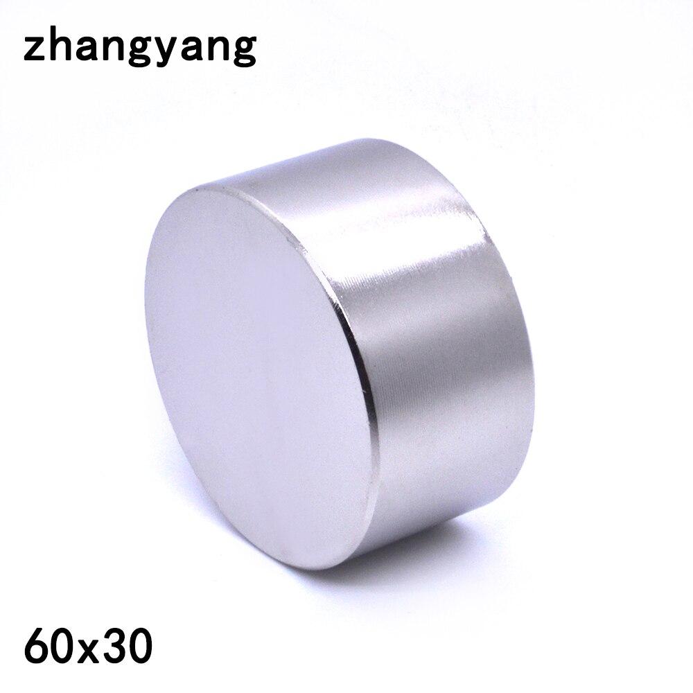 ZHANGYANG 1 pz magnete Al Neodimio 60x30mm gallio metallo new super forte rotonde magneti 60*30 Neodimio magnete potente permanente